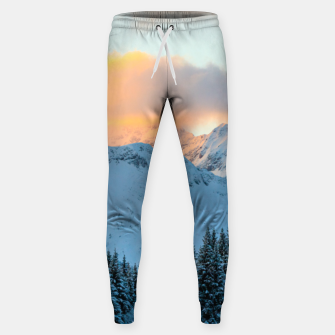 Miniatur Amazing sunset above mountain Triglav, Slovenia Sweatpants, Live Heroes
