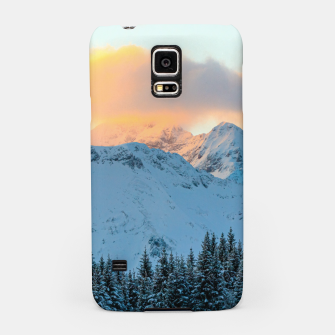 Miniatur Amazing sunset above mountain Triglav, Slovenia Samsung Case, Live Heroes