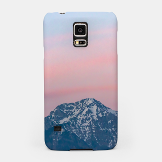 Thumbnail image of Beautiful sunset sky above mountain Storžič, Slovenia Samsung Case, Live Heroes