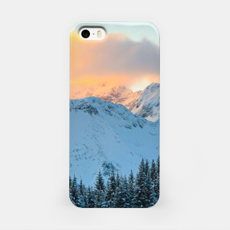 Miniatur Amazing sunset above mountain Triglav, Slovenia iPhone Case, Live Heroes
