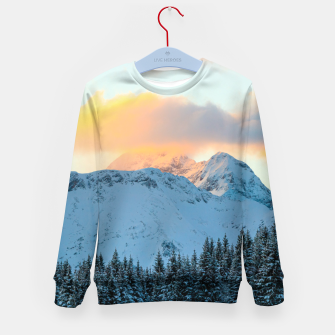 Imagen en miniatura de Amazing sunset above mountain Triglav, Slovenia Kid's sweater, Live Heroes