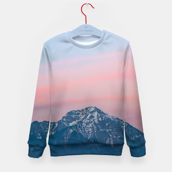 Imagen en miniatura de Beautiful sunset sky above mountain Storžič, Slovenia Kid's sweater, Live Heroes