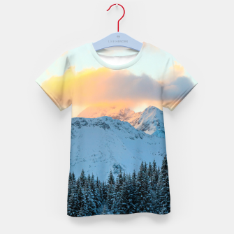 Miniatur Amazing sunset above mountain Triglav, Slovenia Kid's t-shirt, Live Heroes