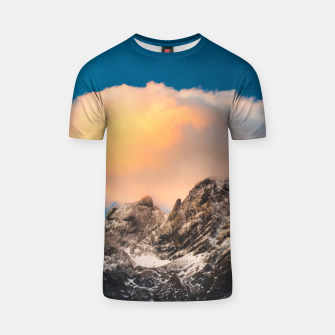Thumbnail image of Burning clouds over the mountains T-shirt, Live Heroes