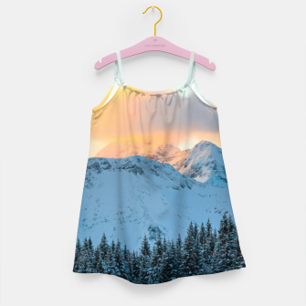 Miniatur Amazing sunset above mountain Triglav, Slovenia Girl's dress, Live Heroes