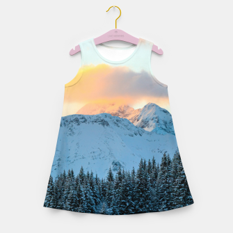 Miniatur Amazing sunset above mountain Triglav, Slovenia Girl's summer dress, Live Heroes