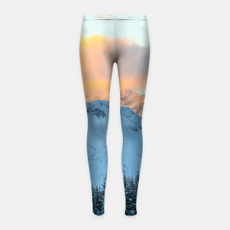 Miniatur Amazing sunset above mountain Triglav, Slovenia Girl's leggings, Live Heroes