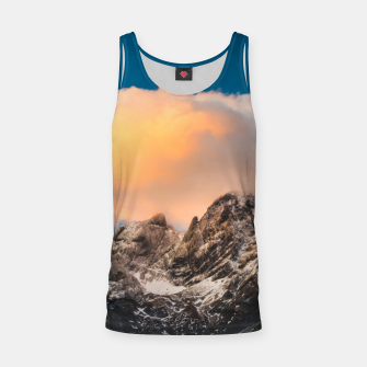 Thumbnail image of Burning clouds over the mountains Tank Top, Live Heroes