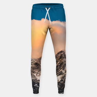 Thumbnail image of Burning clouds over the mountains Sweatpants, Live Heroes