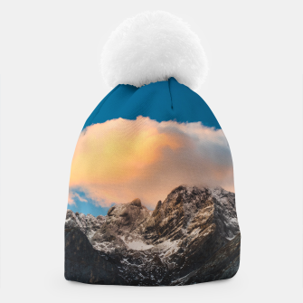 Thumbnail image of Burning clouds over the mountains Beanie, Live Heroes