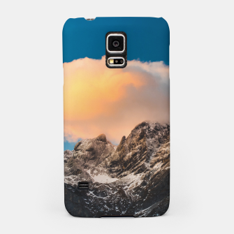 Thumbnail image of Burning clouds over the mountains Samsung Case, Live Heroes