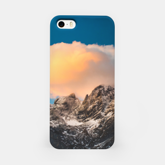 Thumbnail image of Burning clouds over the mountains iPhone Case, Live Heroes