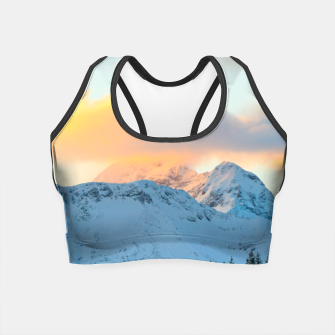 Miniatur Amazing sunset above mountain Triglav, Slovenia Crop Top, Live Heroes