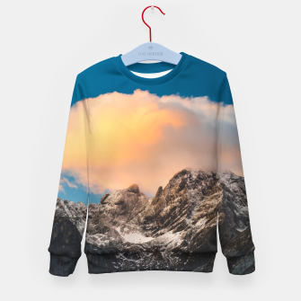 Imagen en miniatura de Burning clouds over the mountains Kid's sweater, Live Heroes