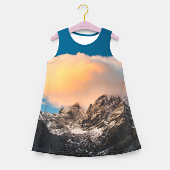 Thumbnail image of Burning clouds over the mountains Girl's summer dress, Live Heroes