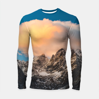 Thumbnail image of Burning clouds over the mountains Longsleeve rashguard , Live Heroes