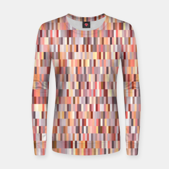 Thumbnail image of Peach, salmon and coral, pink shades, geometric pieces print Women sweater, Live Heroes