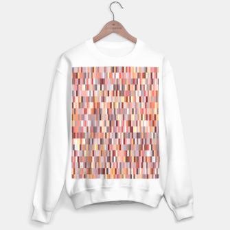 Thumbnail image of Peach, salmon and coral, pink shades, geometric pieces print Sweater regular, Live Heroes