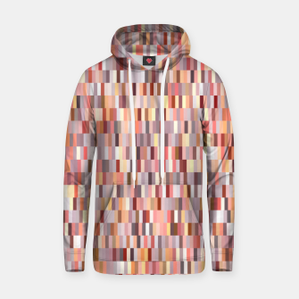 Thumbnail image of Peach, salmon and coral, pink shades, geometric pieces print Hoodie, Live Heroes