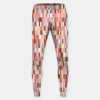 Thumbnail image of Peach, salmon and coral, pink shades, geometric pieces print Sweatpants, Live Heroes