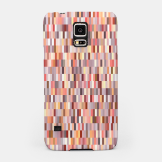 Thumbnail image of Peach, salmon and coral, pink shades, geometric pieces print Samsung Case, Live Heroes