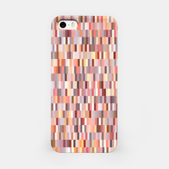 Thumbnail image of Peach, salmon and coral, pink shades, geometric pieces print iPhone Case, Live Heroes