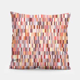 Thumbnail image of Peach, salmon and coral, pink shades, geometric pieces print Pillow, Live Heroes