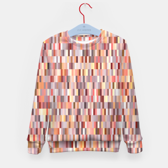 Thumbnail image of Peach, salmon and coral, pink shades, geometric pieces print Kid's sweater, Live Heroes