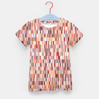 Thumbnail image of Peach, salmon and coral, pink shades, geometric pieces print Kid's t-shirt, Live Heroes