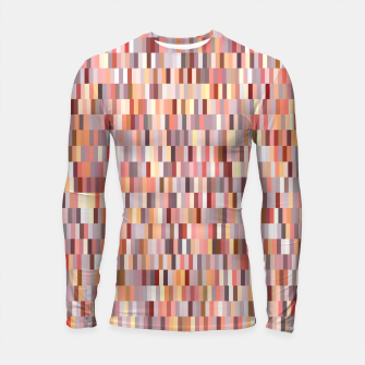 Thumbnail image of Peach, salmon and coral, pink shades, geometric pieces print Longsleeve rashguard , Live Heroes