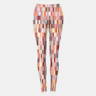 Miniature de image de Peach, salmon and coral, pink shades, geometric pieces print Leggings, Live Heroes
