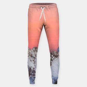 Miniatur Glowing sunset sky and snowy mountains Sweatpants, Live Heroes
