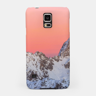 Thumbnail image of Glowing sunset sky and snowy mountains Samsung Case, Live Heroes