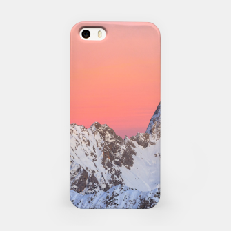 Thumbnail image of Glowing sunset sky and snowy mountains iPhone Case, Live Heroes