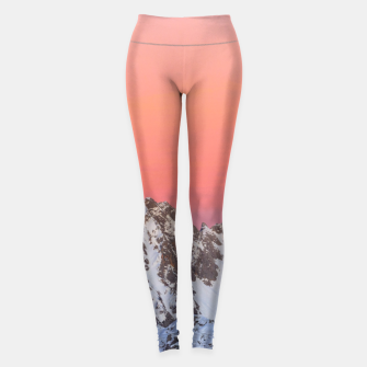 Miniatur Glowing sunset sky and snowy mountains Leggings, Live Heroes