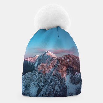 Thumbnail image of Magical sky above mountain Storžič, Slovenia Beanie, Live Heroes