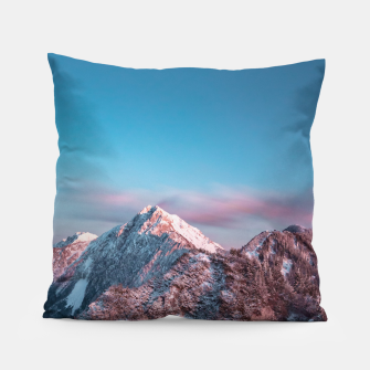 Thumbnail image of Magical sky above mountain Storžič, Slovenia Pillow, Live Heroes