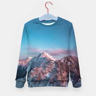 Thumbnail image of Magical sky above mountain Storžič, Slovenia Kid's sweater, Live Heroes