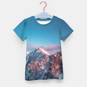 Thumbnail image of Magical sky above mountain Storžič, Slovenia Kid's t-shirt, Live Heroes