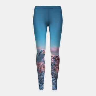 Thumbnail image of Magical sky above mountain Storžič, Slovenia Girl's leggings, Live Heroes