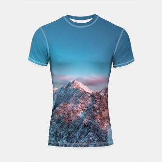 Thumbnail image of Magical sky above mountain Storžič, Slovenia Shortsleeve rashguard, Live Heroes