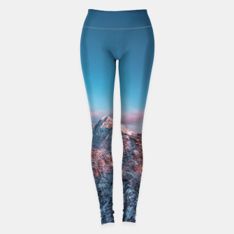 Thumbnail image of Magical sky above mountain Storžič, Slovenia Leggings, Live Heroes