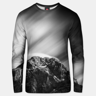 Miniatur Clouds rolling above mountain Mangart Unisex sweater, Live Heroes