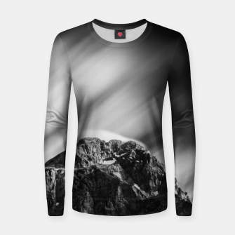 Miniatur Clouds rolling above mountain Mangart Women sweater, Live Heroes