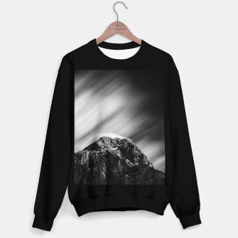 Miniatur Clouds rolling above mountain Mangart Sweater regular, Live Heroes