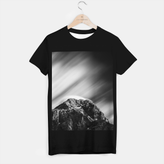 Miniatur Clouds rolling above mountain Mangart T-shirt regular, Live Heroes