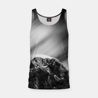 Miniatur Clouds rolling above mountain Mangart Tank Top, Live Heroes