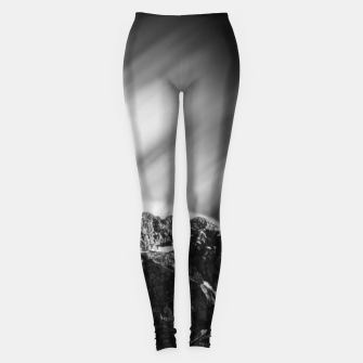 Miniatur Clouds rolling above mountain Mangart Leggings, Live Heroes