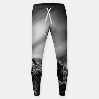 Miniatur Clouds rolling above mountain Mangart Sweatpants, Live Heroes
