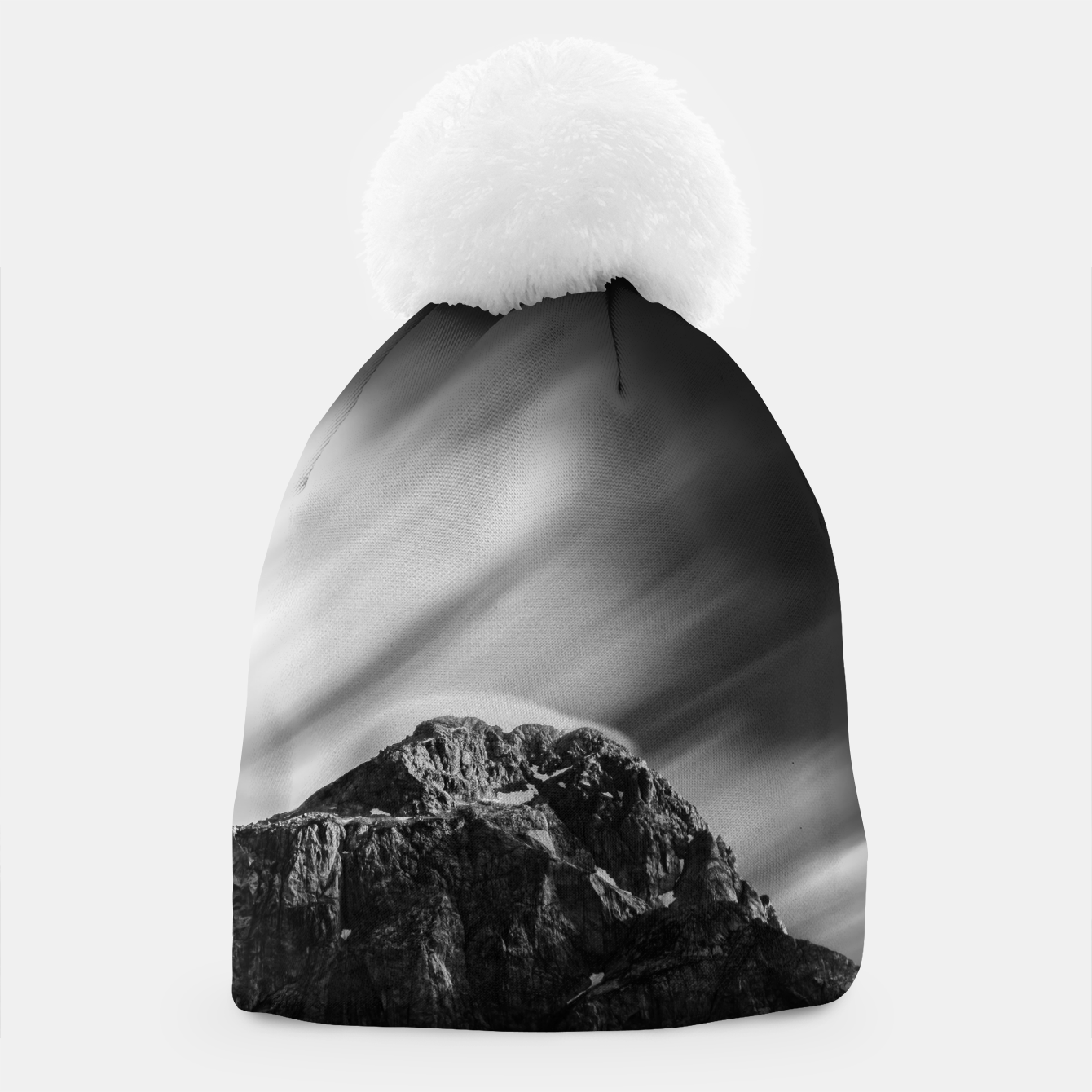 Image of Clouds rolling above mountain Mangart Beanie - Live Heroes
